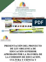 1 PROYECTO LEY DE EDUCACIÓN SUPERIOR