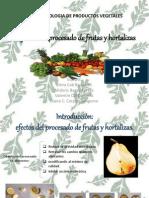 Efectos Del Procesado de Frutas y Hortalizas