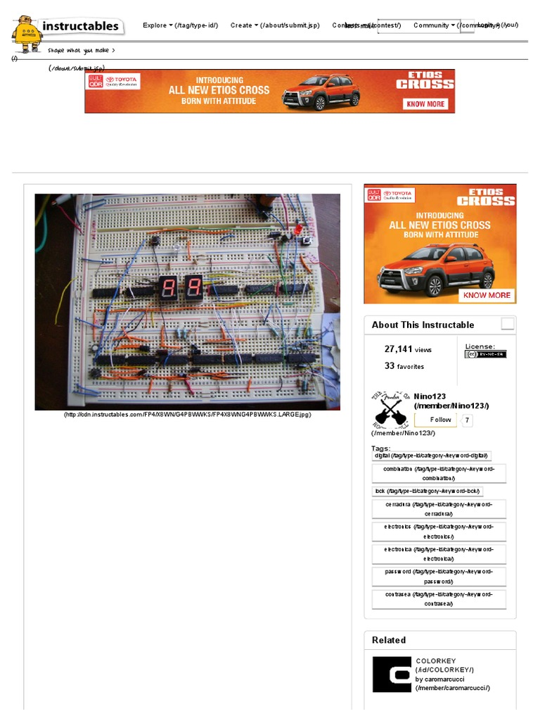Digital Combination Lock Diode Power Supply 555 Bistable Multivibrator Electronics Forum Circuits Projects And