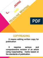 Copyreading and Headlinewriting(Powerpoint)
