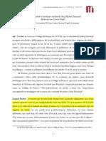 Materiali Foucaultiani Daniel Defert