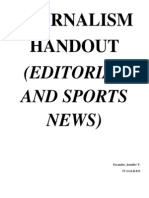 Editorial and Sports News