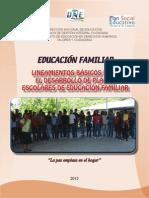 Educacion Familiar Lineamientos