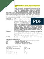 Ficha Técnica - Leche Saborizada