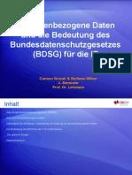 Personenbezogene Daten Und Das BDSG