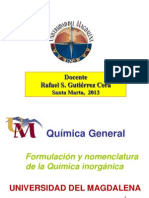 UNIDA 5   FORMULACIaN Y NOMENCLATURA DE LA QU+MICA INORG¦NICA.ppt