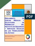 Reglamento Quejas Medicas Solicitudes Reembolso Issste