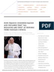 """Pope Francis Condemns Racism and Declares That """"All Religions Are True"""" at Historic Third Vatican Council _ Diversity Chronicle"""