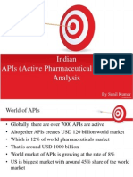 Active Pharmaceuticals Ingredients in India