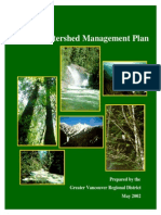 2002 Watershed Management Plan Great Vancouver