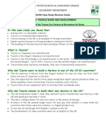 Toyota Factory Report Case Study