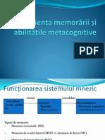 Eficienta Memorarii Si Abilitati Metacognitive