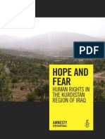 HOPE and FEAR Human Rights in the Kurdistan Region of Iraq April 2009