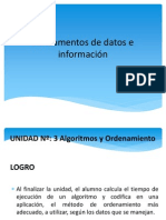 FDI - Unidad Algoritmo Ordenamiento