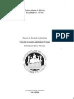 Manual de Direito Constitucional - Tomo III - Apontamentos