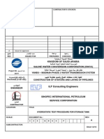 Hydrostatic Test Procedure for Storage Tank New No Air Test