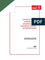 Normativa del Congreso extraordinario del PSOE