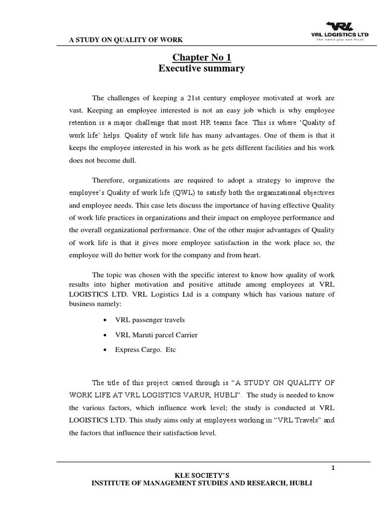 Qwl Final Report | Employment | Transport