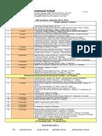 ISS Academic Calendar 2012-2013