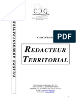 Brochure Rédacteur Territorial