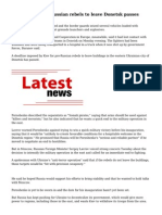 Deadline for pro-Russian rebels to leave Donetsk passes