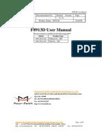 F8913D ZigBee Module User Manual
