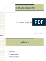 Lecture 4 (Diodes)