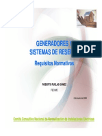 Generadores y Sistemas de Reserva