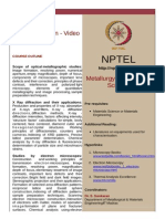 Materials Characterization - Video Course_S.sankaran_IITM_NPTEL