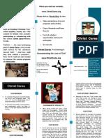 Christ Cares Christian non profit Brochure