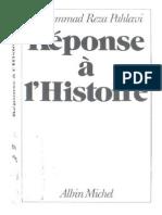 Réponse à l'histoire  ANSWER TO HISTORYپاسخ به تاریخ  نوشته محمدرضا پهلوی به زبان فرانسوی
