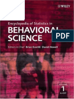 Wiley Encyclopedia of Statistics in Behavioral Science Vol 1-4 2005