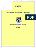 S2 English Scope and Sequence Checklist