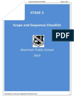 S3 English Scope and Sequence Checklist