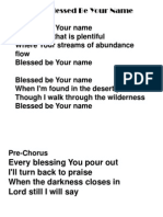 Praise and worship line up