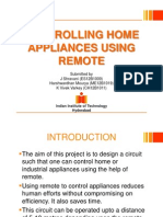 Controlling Home Appliances Using Remote