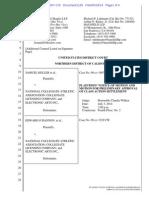 EA Proposed Settlement