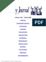 Alchemy Journal Vol.1 No.1