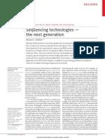 Tecnologias de Secuenciacion de Siguiente Generacion