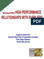 How Supplier Relationships Affect Ev At