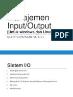 Manajemen I/O  [Umum,Linux,Ubuntu]