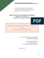 ARGENTINA - SAN JUAN AÑO 2010 - BREVE INFORME MACROECONÓMICO Y SOCIAL