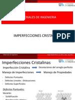 5. Imperfecciones Cristalinas