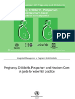 WHO - Pregnancy Childbirth Postpartum and Newborn Care (WHO 2003)