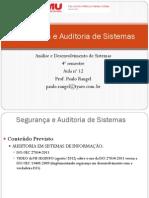Aula 12 - Segurança e Auditoria de Sistemas - IsO 27034