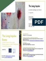 Invitation to art exhibition The Living Impulse, 5 - 11 June 2014, London