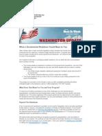 Washington Update - Federal Budget Standoff