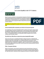 NVCA's 4-Pillar Plan to Restore Liquidity in the US VC Industry
