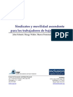 Sindicatos y movilidad ascendente para trabajadores de bajos salarios