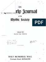 Quarterly Journal of the Mythic Society Volume 13, 1923